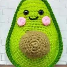 Aguacate a Crochet