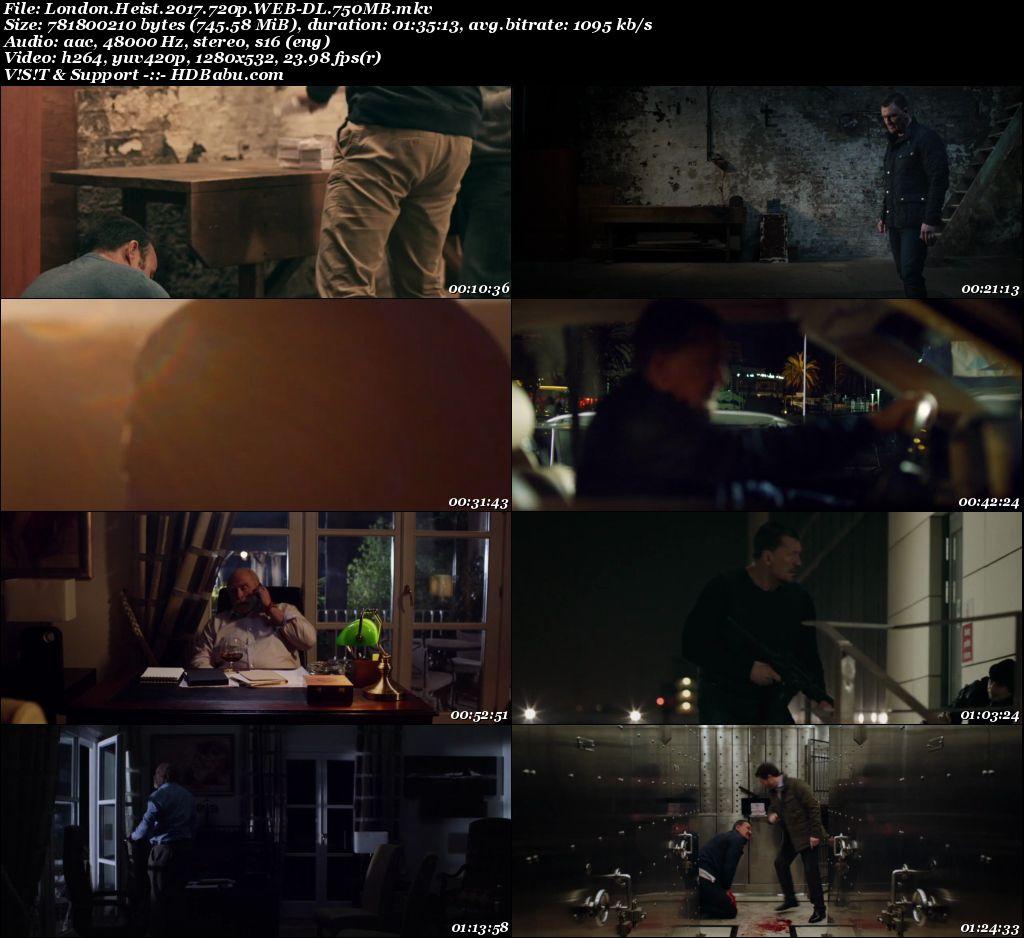London Heist (2017) Englsih 720p WEB-DL 750MB ESub