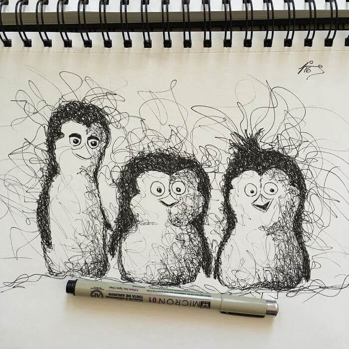 04-Three-little-penguins-Jimmy-Mätlik-www-designstack-co
