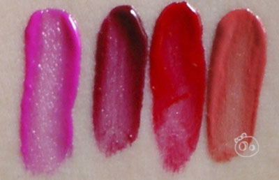 MAC Versicolour Stain Swatches