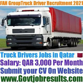 FAH Group Truck Driver Recruitment 2021-22