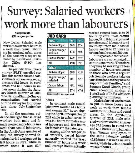 Salaried workers work more that labourers
