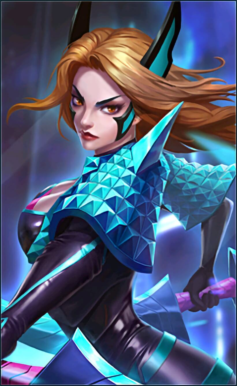 Wallpaper Karina Phantom Blade Skin Mobile Legends HD for Mobile