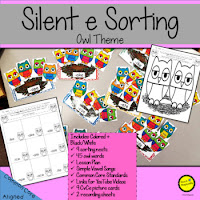 Teach Magically silent e owl sorting game