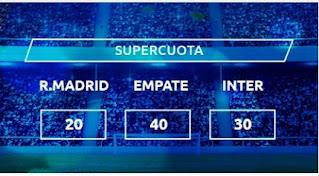 Mondobets Supercuota Real Madrid vs Inter 3-11-2020