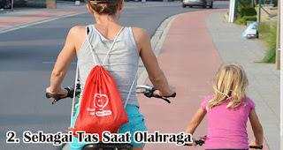 Sebagai Tas Saat Olahraga merupakan manfaat dan fungsi tas serut untuk sehari-hari