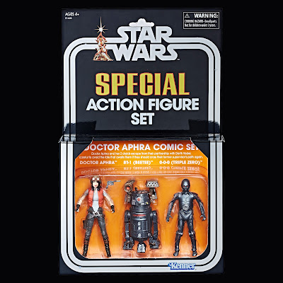 "San Diego Comic-Con 2018 Exclusive Star Wars: The Vintage Collection Doctor Aphra Comic Book 3¾"" Action Figure Box Set by Hasbro"