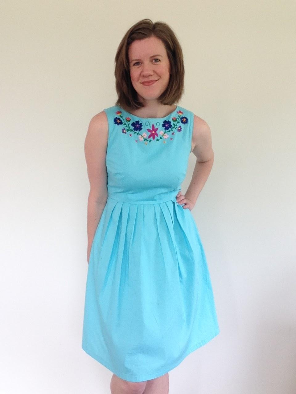 Modern Mexican Embriodered Dress