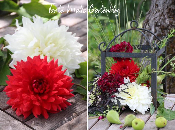 Blumengesteck mit Dahlien Anleitung