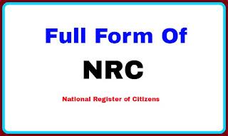 Full Form Of NRC
