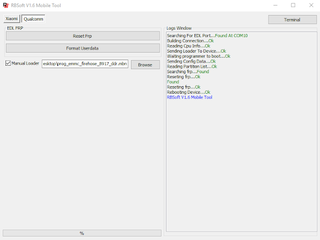 bypass frp redmi go dengan rbsoft tool tested