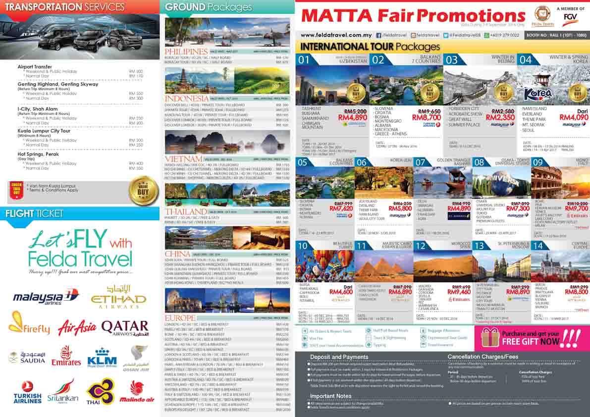 Felda Travel Promosi Matta Fair September 2016