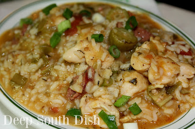 A cross between gumbo and jambalaya, this quick and easy skillet meal packs a burst of gumbo flavor, but without the usual lengthy time commitment - great for busy weeknights.