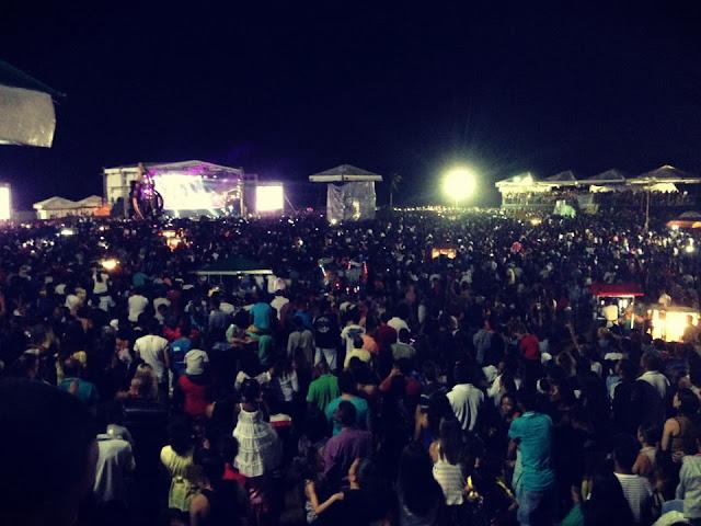 Mais de 60 mil pessoas estiveram presentes.