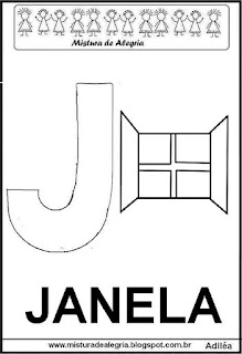 Alfabeto cartaz letra J