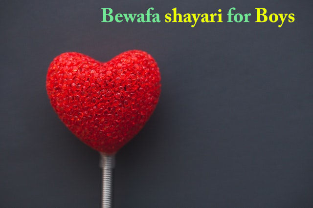 Bewafa shayari for boy