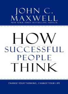 How successful people think Book by John C. Maxwell in pdf