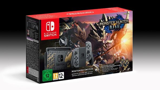 Sorteio Nintendo Switch Monster Hunter Rise edição limitada