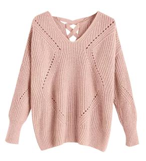Jersey rosa con calado