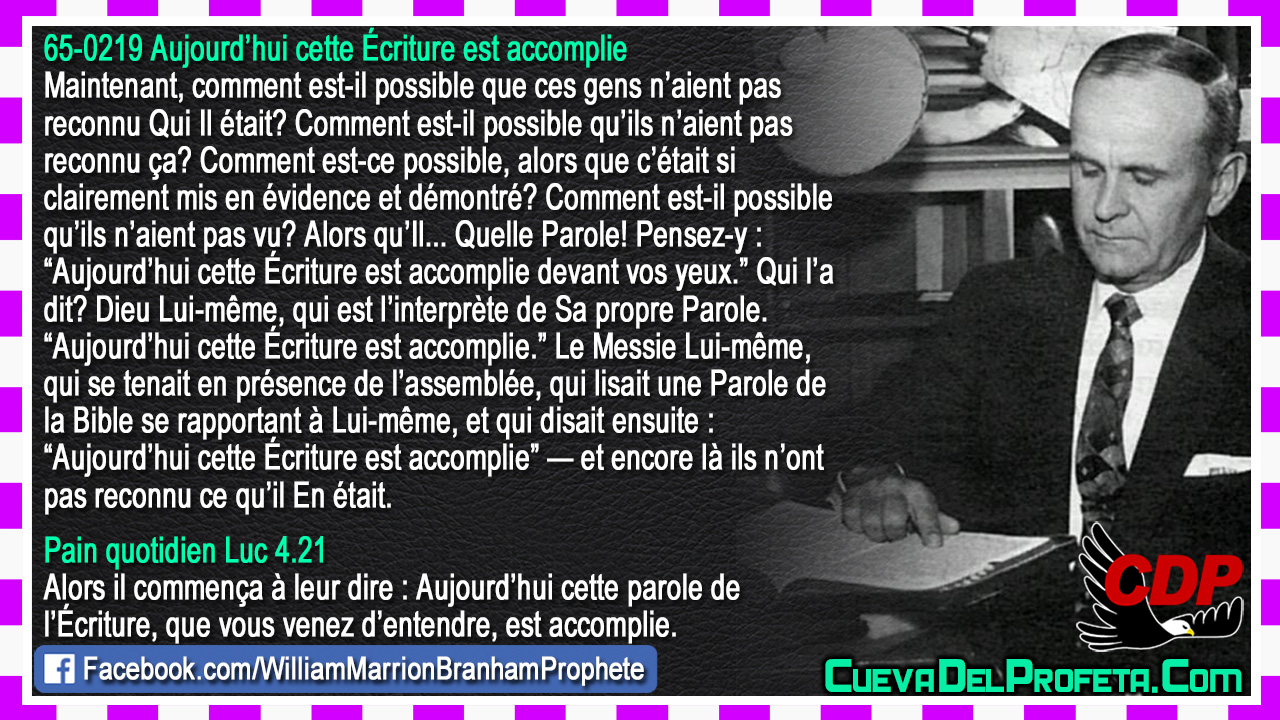 Comment est-il possible qu'ils n'aient pas vu? - William Marrion Branham