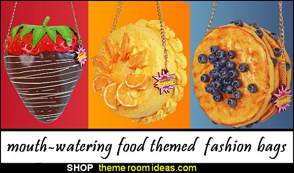 food-inspired handbags food fashion bags  cake bags sweets bags party bags pancake strawberry