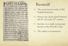 Beowulf as a old english manuscript