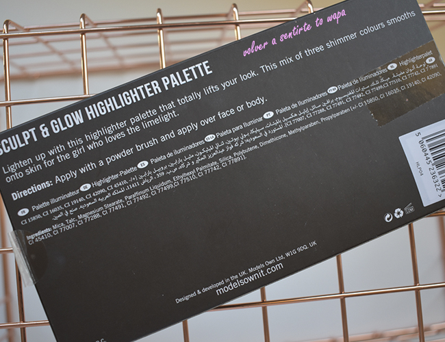 Models Own- Sculpt & Glow Highlighter Palette