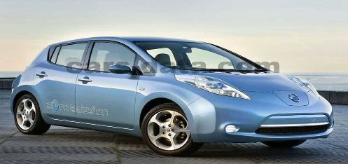 What is Nissan's all electric car model called?