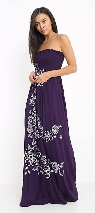 Best Purple Strapless Maxi Dresses