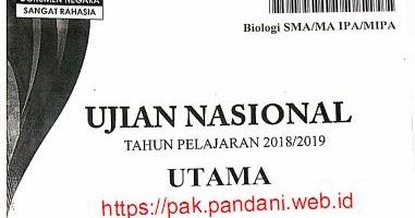Pembahasan Soal Un Biologi Sma Tahun 2019 Blog Pak Pandani