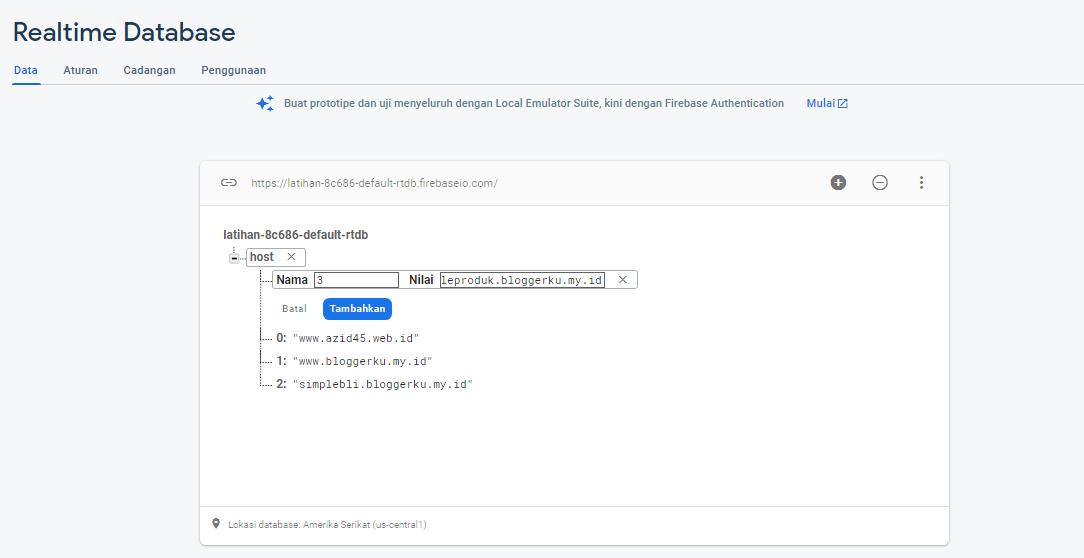Lisensi Blogger dengan Firebase