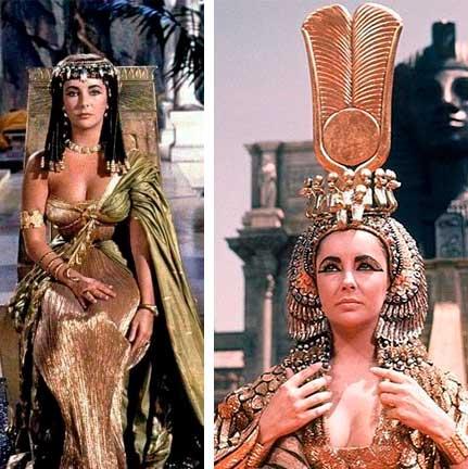 Filme Cleopatra vestido e coroa