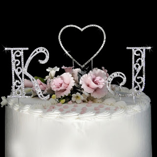 beautiful love swarovski wedding cake topper