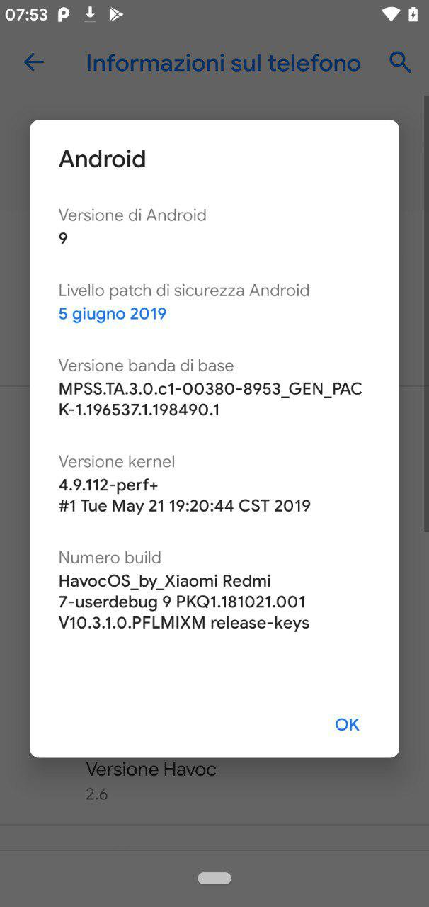 ROM] Havoc OS 2 6 for Xiaomi Redmi 7 | Android Babi - Custom
