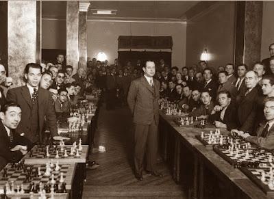 Simultáneas de ajedrez de José Raúl Capablanca, diciembre 1935