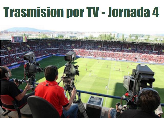 Trasmision por tv jornada 4 futbol mexicano