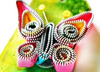 Manualidades de Mariposas elegantes con cremalleras