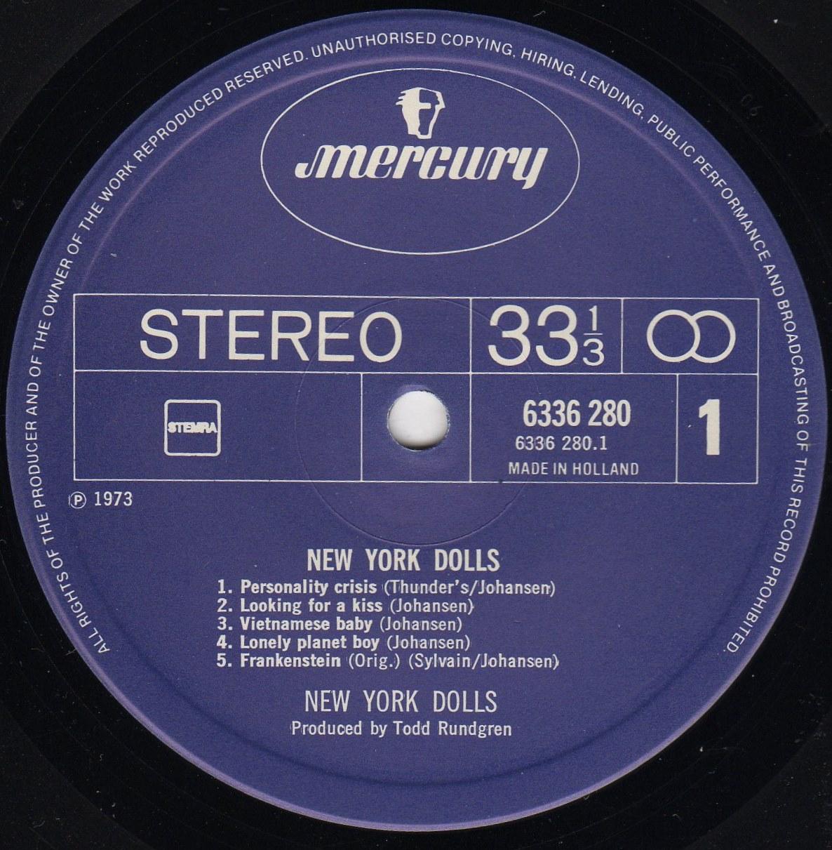 Wolfees Gramophone Vietnamese Baby New York Dolls Mercury Lp 6336