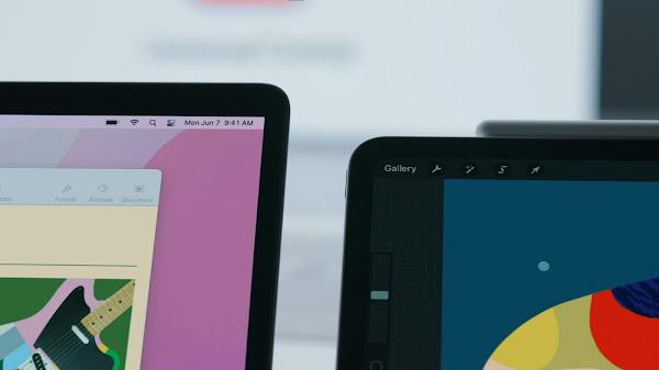 Mac と iPad を接続、Procreate を操作