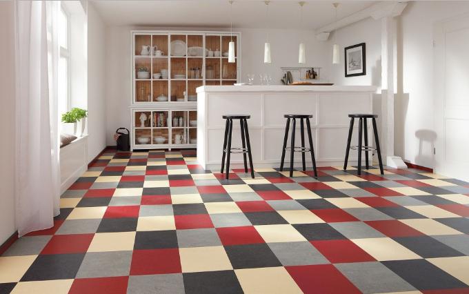 Clean White Linoleum Floors