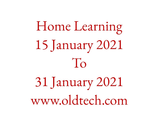 Home Learning 15 January 2021 to 31 January 2021 Standard 1 to 2, 3 to 5, 6 to 8 and 9 to 12Time Table.