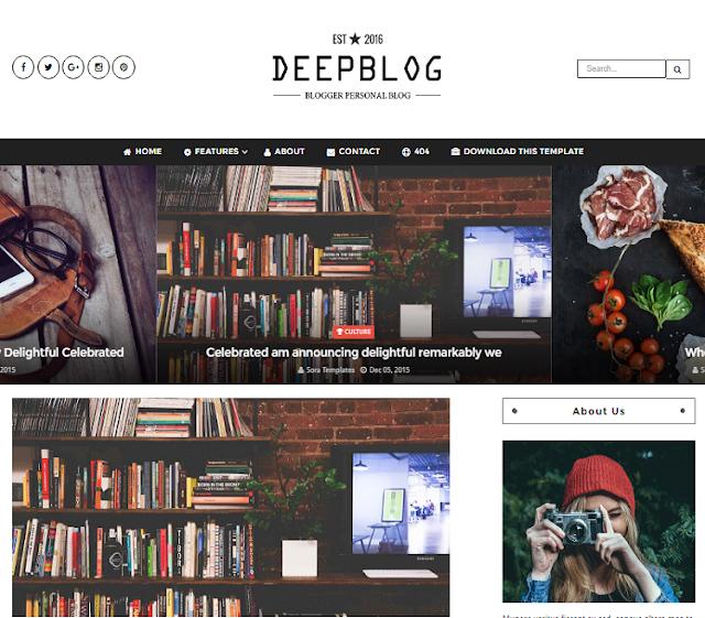 DeepBlog Magazine Blogger Template