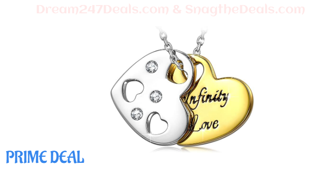 QIANSE Mothers Day Gift Infinity Love Necklace 70% OFF