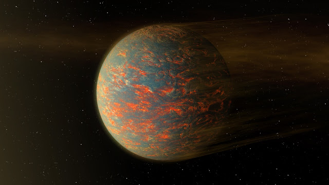 Hot-Lava World: Exoplanet 55 Cancri e