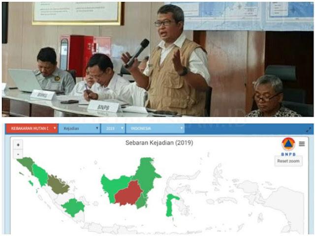 NGAWUR Sebut Kalimantan Minim Kebakaran Hutan dan Lahan, Jokowi DITABOK Data BNPB