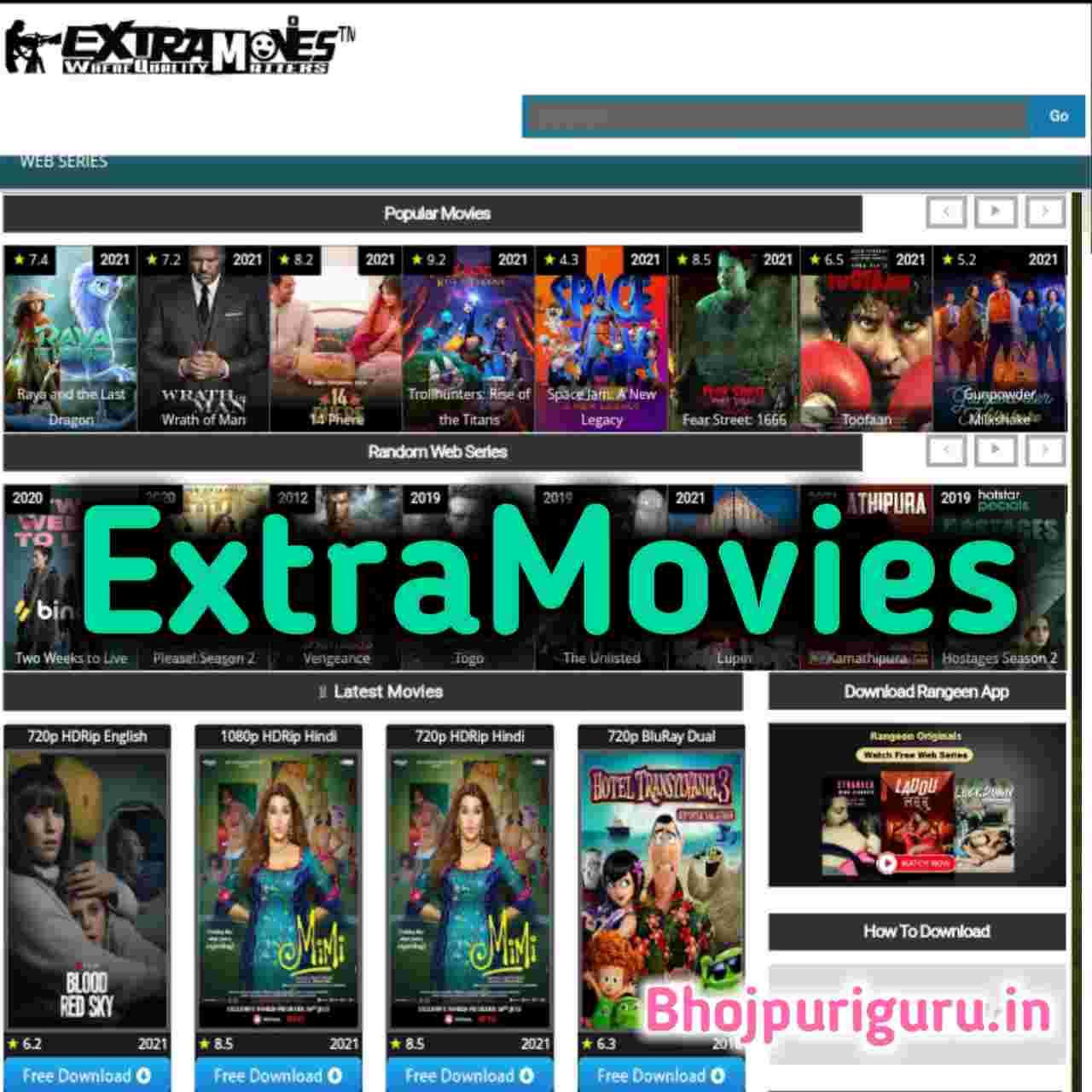 ExtraMovies com 2021   extramovies Hollywood Dual Audio Movies, 720p Movies, 1080p movies - Bhojpuri Guru