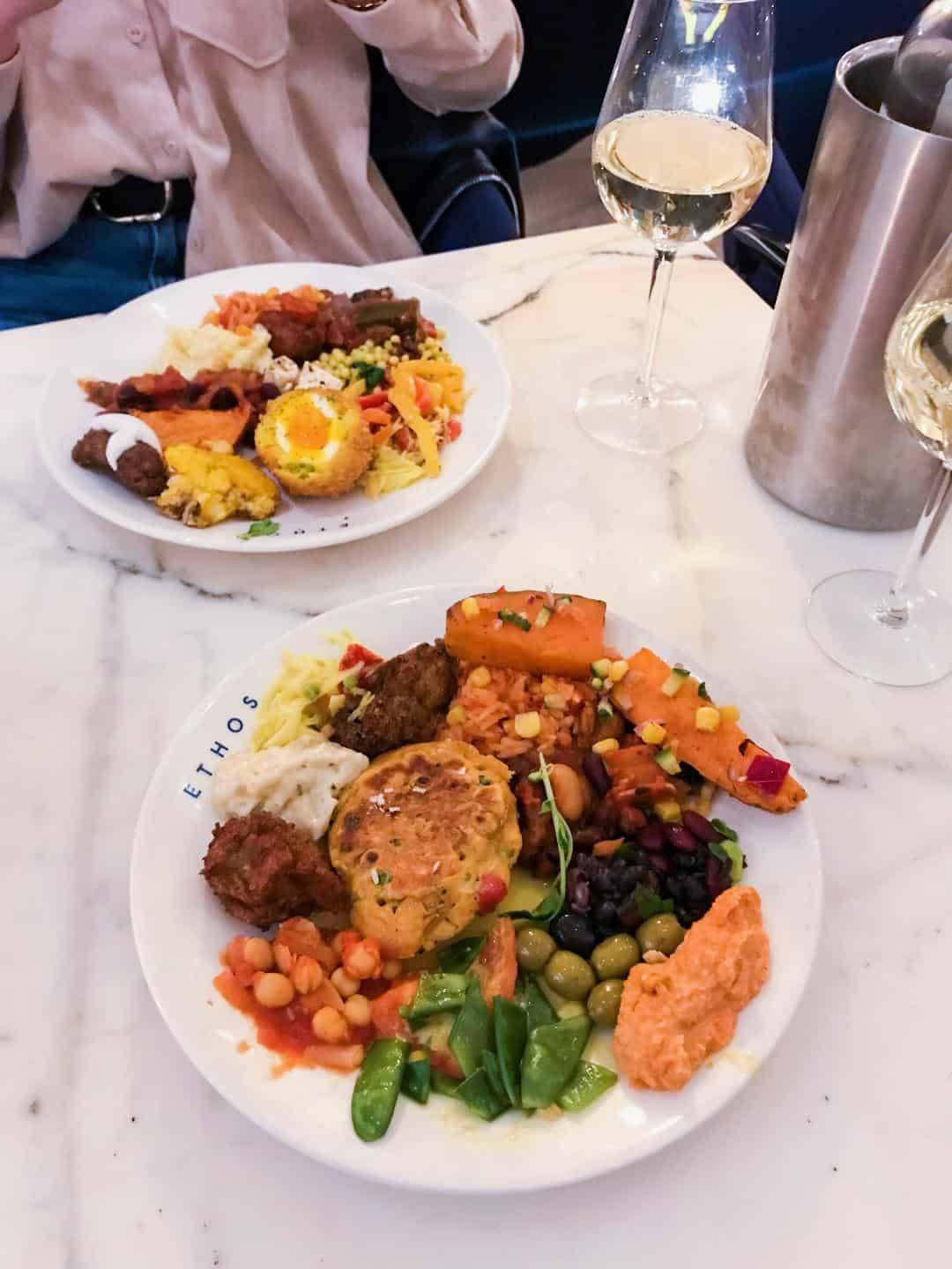 Vegan Buffet at Ethos London