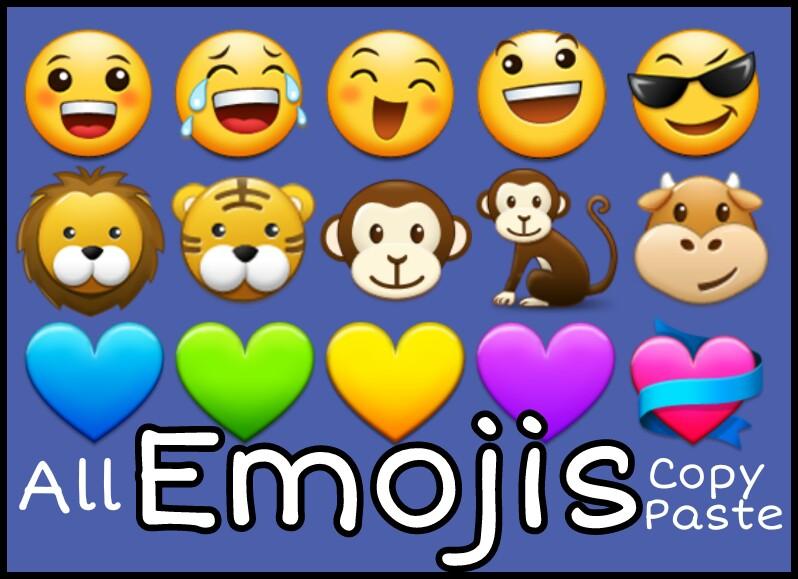 Emojis to copy and paste - All Emoji 😊😉😁 symbols