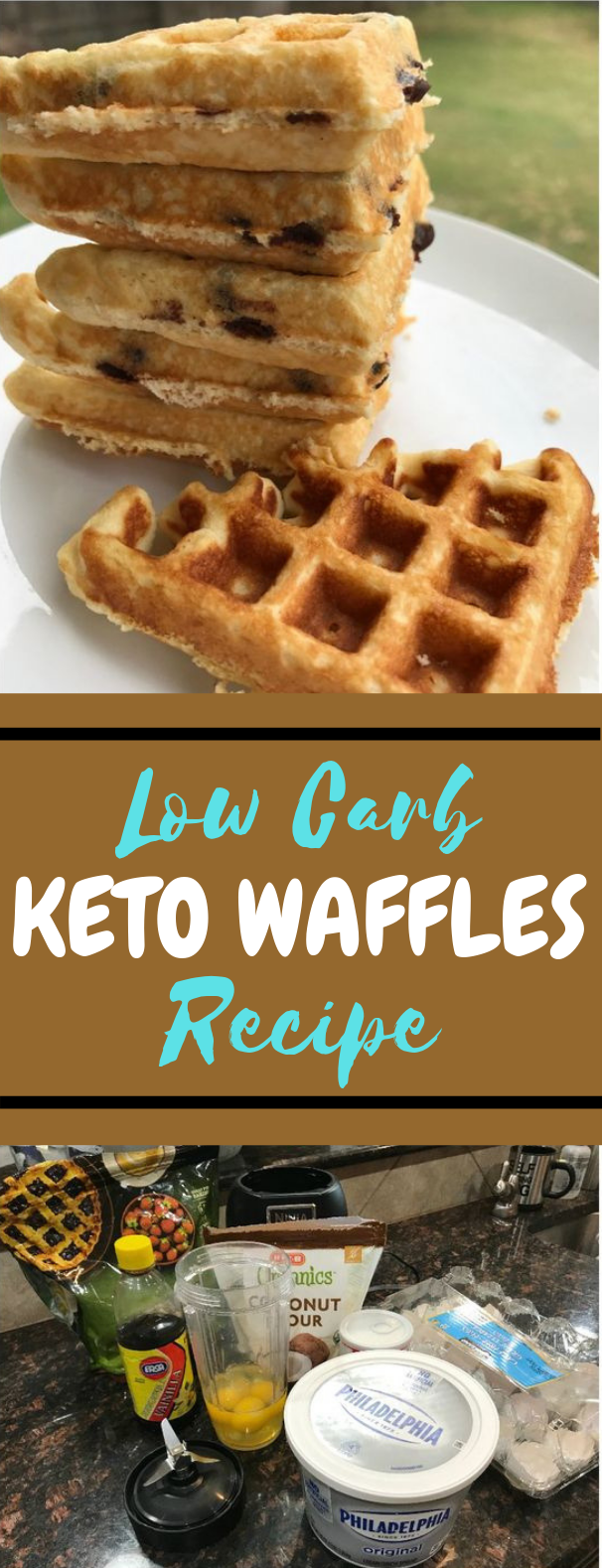Low Carb and Keto Fluffy Waffles Recipe #Waffle #Keto