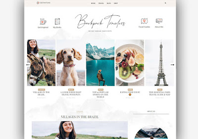 Backpack Clean Blogger Template Responsive For Traveling